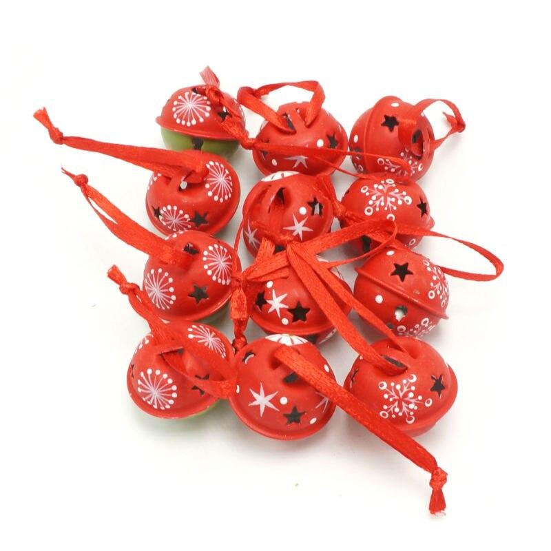 Noel öğeleri 3 türleri 12 adet karikatür metal küçük Bells - Tatiller ve Partiler Için - Fotoğraf 4