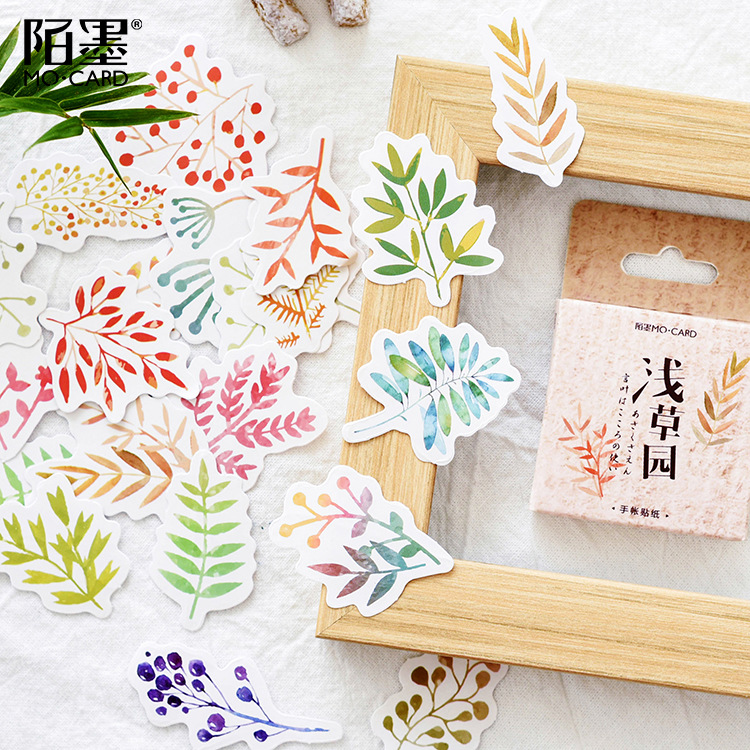 45 Pcs/pack Colorful Leaves Paper Sticker Decoration Stickers Diy Album Diary Scrapbooking Label Sticker