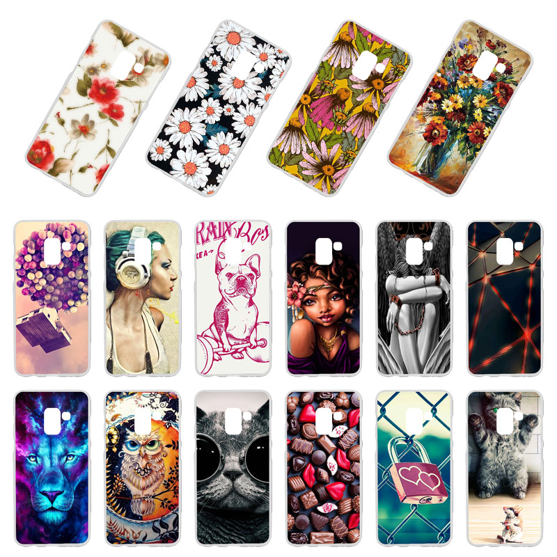 Phone Case For <font><b>Samsung</b></font> Galaxy A8 2018 Cases Silicone DIY Patterned Bumper For <font><b>Samsung</b></font> A5 2018 <font><b>A530F</b></font> <font><b>Cover</b></font> Coque Back Fundas Capa image
