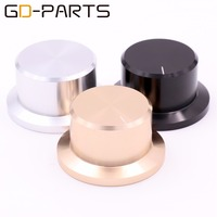 Free Shipping 1PC 48 36mm Generic Golden Solid Aluminum Speaker DAC Amplifier CD Player Knob