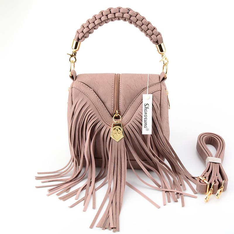 Women Pu Leather Bag Female Fashion Shoulder Bags Famous Brand Crossbody Bags Fringe Tassel Women Messenger Bags herald fashion sgarr famous brand women messenger bag pu leather small purse fashion pink grey color female crossbody shoulder bags party bags