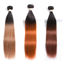 Human Hair Bundles Straight Ombre Blonde 30# 33# Orange 350# Cheveux Humain 1 2 3 4 Brazilian Hair Weave Bundles Non Remy