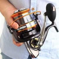 FDDL 3000-9000 Formato 12 + 1 Cuscinetti A Sfera Grande Traina Alimentatore Metallo Lunga Distanza Ruota Bobina di Pesca Alla Carpa pesca pesca accessori