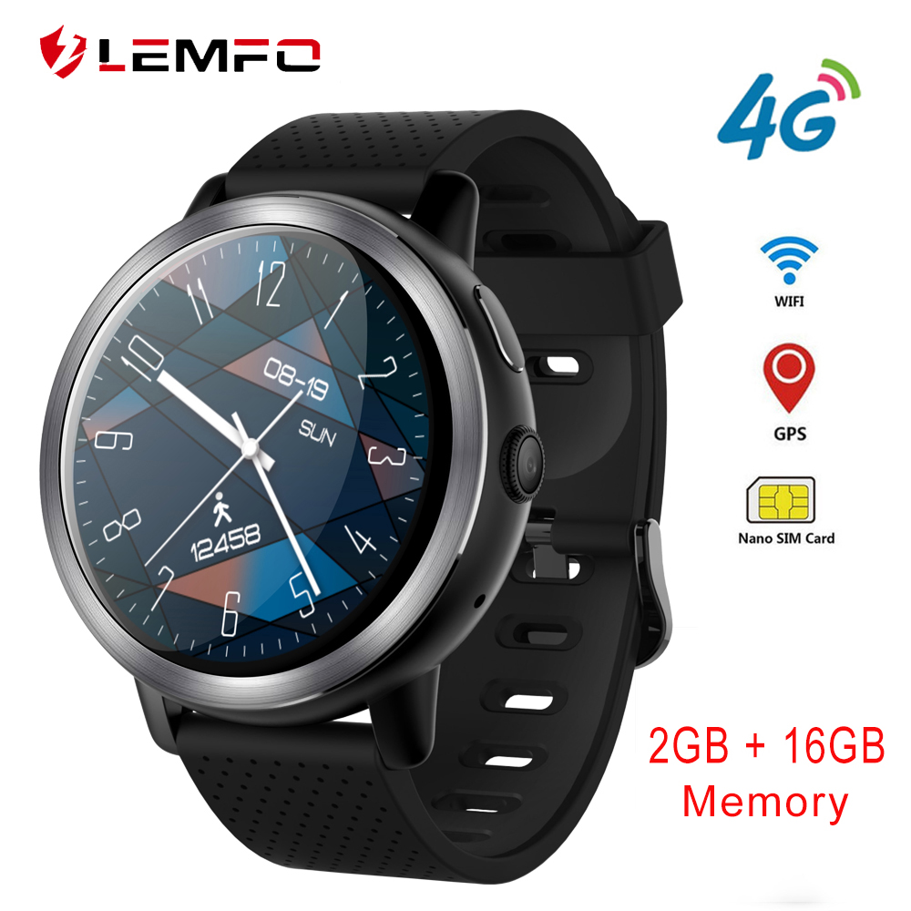 LEMFO LEM8 Smartwatch Android 7 1 LTE 4G Sim WIFI 1 39 Inch 2MP Camera GPS