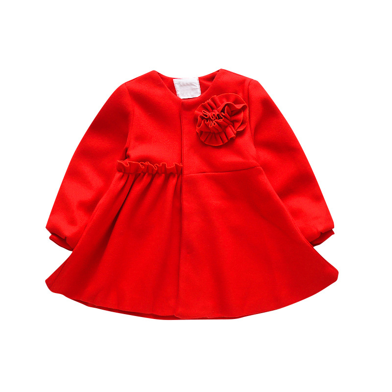 4064cbfa95445 2017 New red Baby Dress Infant girl dresses Princess Birthday Dress ...