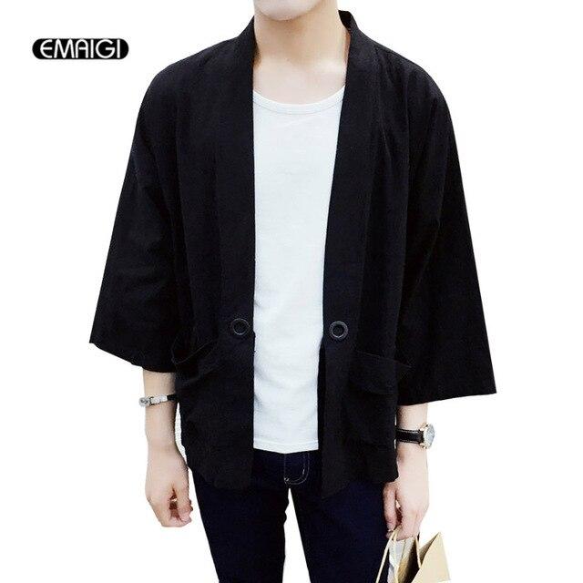 Mince Printemps Style Kimono Veste Hommes Été Cardigan Casual Hiphop Japon Mâle Manteau Lâche De Mode ArqZFxwOA