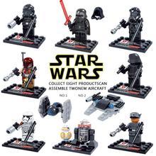 8 pcs/set Star Wars The Force Awakens Movie Star War Kid Baby Toy Mini Figure Building Blocks Sets Model Minifigures Brick