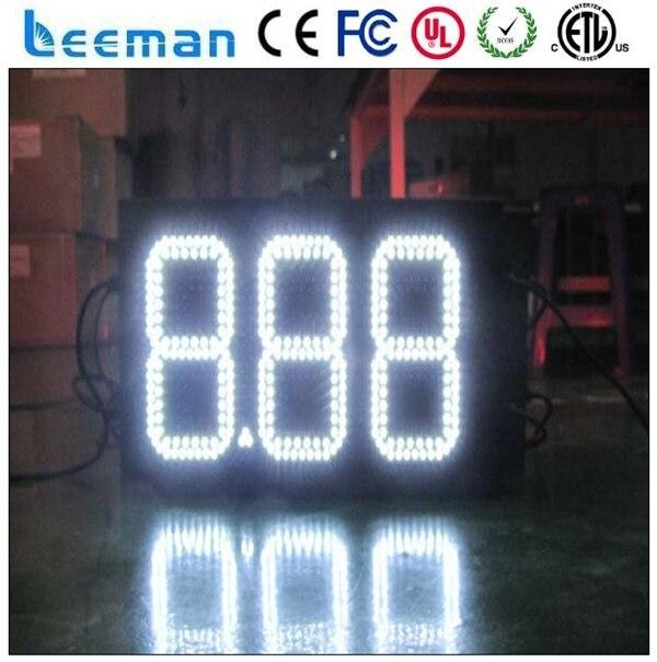 Leeman из светодиодов цен на топливо совета и цена на газ смены и цена на нефть знак, Масло / бензин станция! 7 сегментный цифровой из светодиодов цена на газ знаки