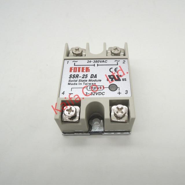 1 шт. твердотельные реле SSR-25DA 25A 5-24VDC до 24-380 В AC ССР 25DA, 6-20mA