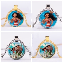 1pc/bag Moana Movie Ocean Romance Pendant Jewelry Necklace Beautiful Gift For Kids Party Supplies Babys Birthday Decoration Set