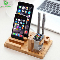Mini Bamboo Charging Dock Station Bracket Cradle Mobile Phone Charger Stand Holder For IPhone 6 6S