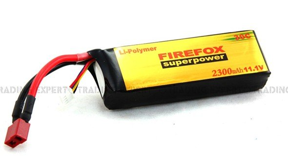 HK register free shipping~100% Orginal Firefox 11.1V 2300mAh 30C Li Polymer battery