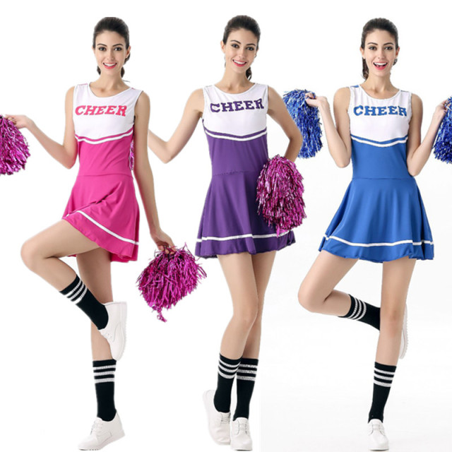 25f81cacc9df 6 Color High School Girl Glee Costume cheerleader Sexy Fancy Dress Girls  Cheerleader Uniform School Girl