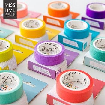 24 Стиль Творческий сплошной Цвет японский декоративный клей Ленты Васи Ленты DIY Скрапбукинг маскирования Ленты Школа канцелярских товаров