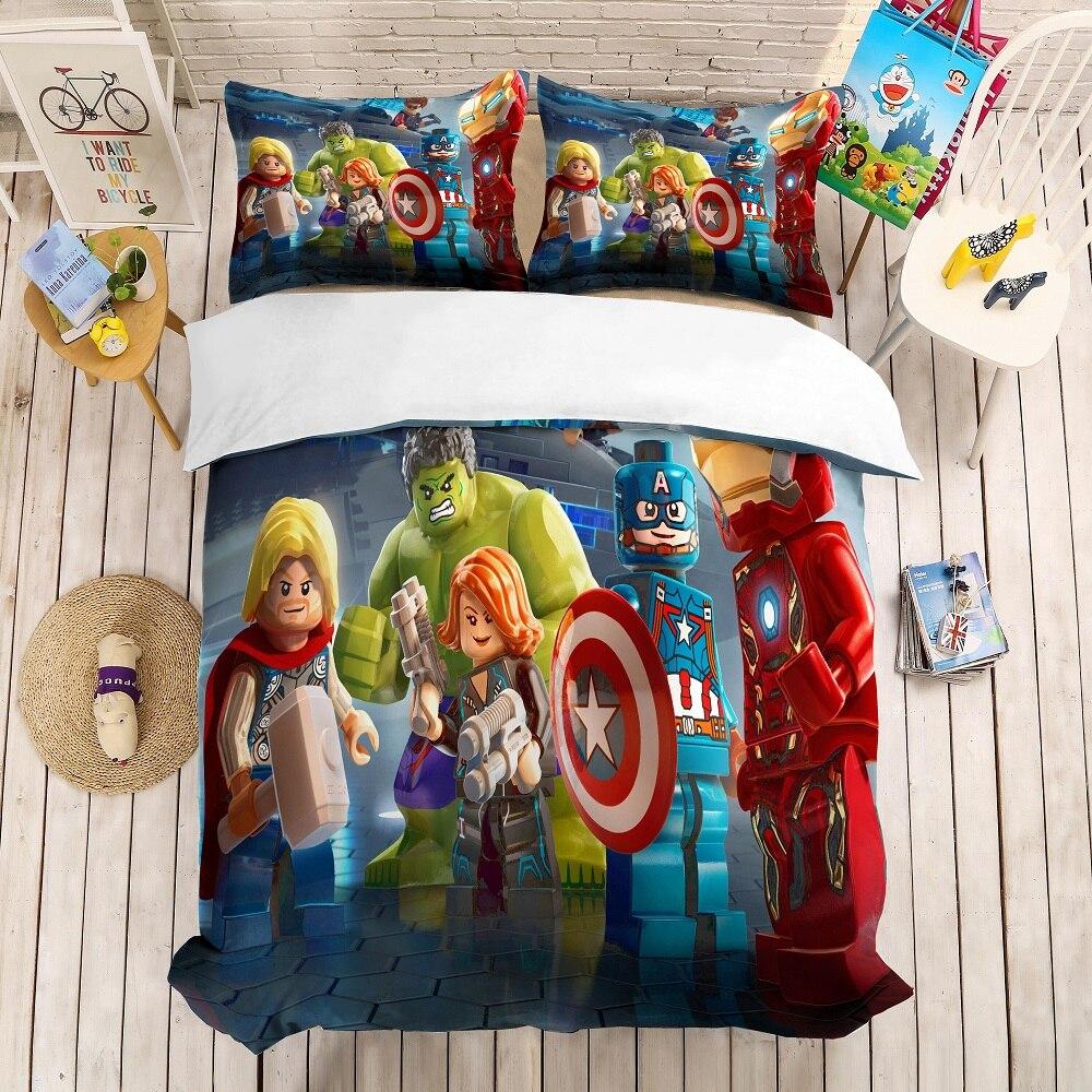 Marvel Avengers Hulk and Captain America Duvet Cover Set 100/% Cotton