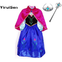 Girl Dress Kids Baby Snow Queen Toddler Girls Anna Costume Girls Party Carnival Princess Children Clothes