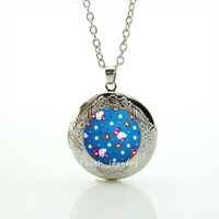 New Design High Quality Fashion  cute  cat Chocker Pendant Necklace for children and kids  gift HH189
