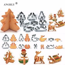 ANGRLY Stainless Steel Puzzle Cookie Cutter Biscuit Dessert Mold Pastry Fondant Cake Sugar Craft Decorating Frame Tools