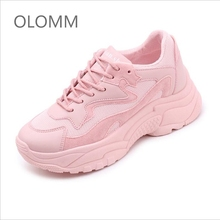 OLOMM 2019 Sping Woman Casual Fashion Sneakers Graffiti Flats Ladies Vulcanized Shoes Summer White Zapatos De Mujer