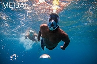 Оптовая продажа; Прямая поставка; 100 шт. подводный Анти туман Сноркелинга полный Уход за кожей лица маска для подводного плавания GoPro Камера