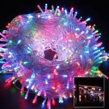 10เมตร20เมตร30เมตร50เมตรLED s tringนางฟ้าแสงวันหยุดลานคริสต์มาสตกแต่งงานแต่งงานAC220Vกันน้ำกลางแจ้งแสงพวงมาลัย