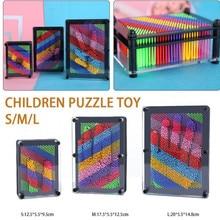 Kid Toys Sculptures Painting Pinart Clone Hand-Shape Antistress-Art Needle-Board Pinscreen