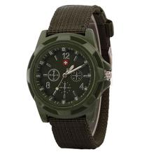 Military quartz watches men fashion Green Dial Army sport running watch