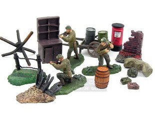 mini resin figure 1:32 WWII U.S. Army 82nd Airborne Division Battle Scene airborne pollen allergy