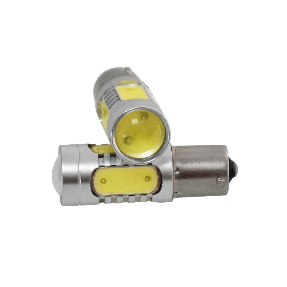 2Pcs/Lot High Power 1156 7.5W COB LED Bulb Car Auto Light Source Projector DRL Driving Fog Headlight Lamp 12V DC 9005 hb3 9006 hb4 7 5w high power cob led bulb car auto light source projector drl fog headlight lamp white yellow