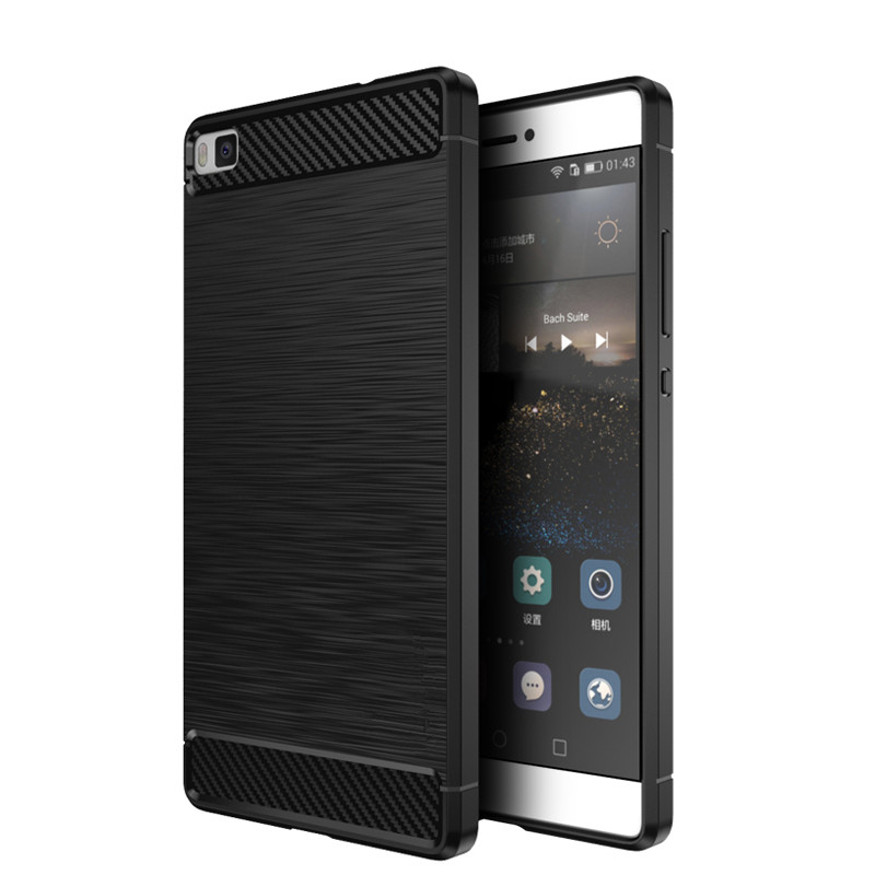 Luxury Slim Rugged Shockproof Armor Hybrid Soft Silicone Back Cover Cases For <font><b>Huawei</b></font> P8 /<font><b>P</b></font> <font><b>8</b></font> <font><b>Lite</b></font> 2016 <font><b>Phone</b></font> <font><b>Bag</b></font> Brushed Coque