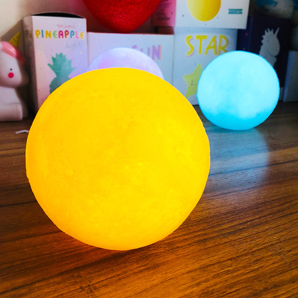 3d Moon Sleep Light Moon Light Christmas Child Gift Moon Light Powder Yellow Blue White 15/12/10/8cm Optional Online Shop