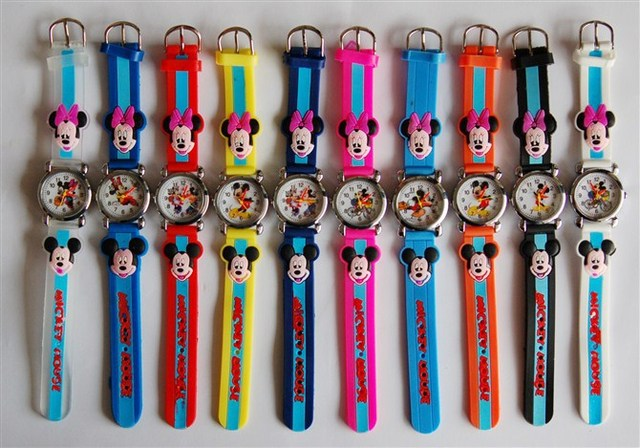 10pcs ladies&minnie 3D Cartoon Lovely fashion Kids Girls Boys Children Students