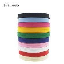 Полиэстер/хлопок 12 мм т/с косой ленты косой связывания складные однотонные ленты для пошив одежды «сделай сам» и обрезки 18 ярдов/рулон
