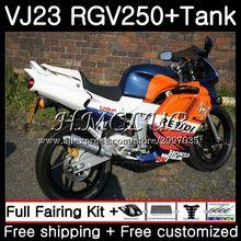 Комплект+ бак для SUZUKI VJ21 VJ22 VJ23 RGV250 97 98 тела 43HC. 20 RGV 250 VJ 21 22 23 SAPC RGV-250 Repsol Синий Горячая 1997 1998 обтекателя