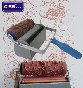 6'' Two Color Wall Decoration Machines | Knurled Mold | Without The Decoration Roller | Connect With Extension Shaft GSB Tool