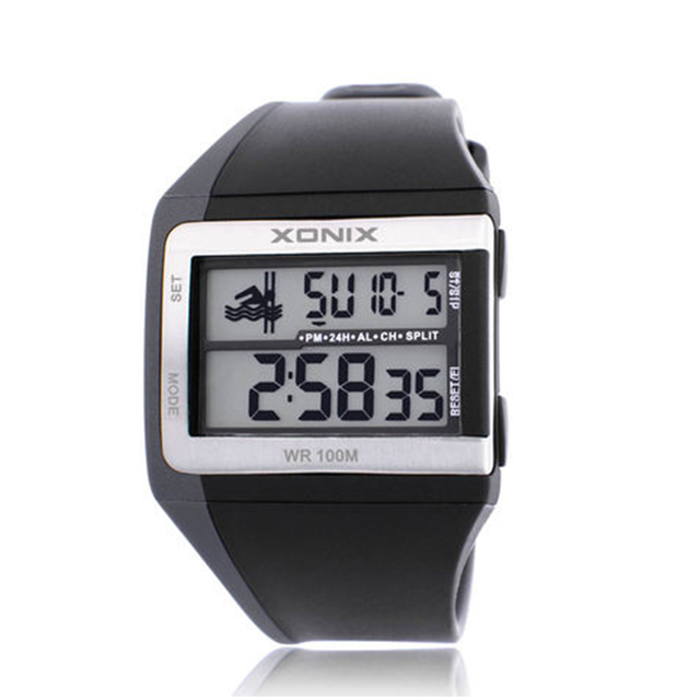 100M Waterproof can diving can swimming men Sport Watches , Outdoor multifunctional LED Digital watch men montre homme