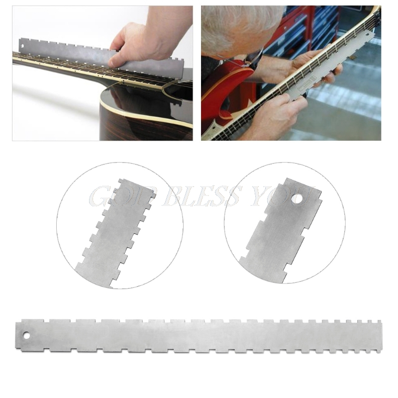 Free Shipping Guitar Neck Notched Straight Edge Luthiers Tool for Most Electric Guitars Frets цена