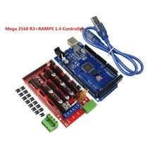 CNC Kit Impressora 3D Mega 2560 R3 Conselho de Desenvolvimento + RAMPS 1.4 Painel de Controle do Controlador AtMega2560 Mega2560 ATmega