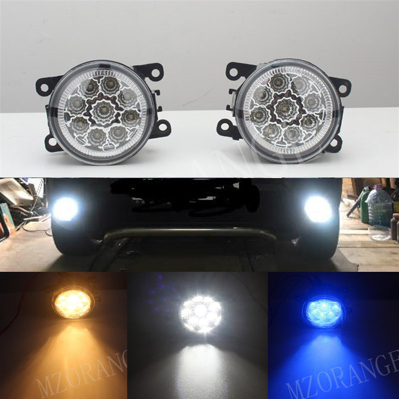 car front bumper lamps LED fog Lights high brightness For Renault DUSTER LATITUDE LOGAN Laguna MEGANE 2/3/CC Saloon LS LM0 LM1 led front fog lights for renault koleos hy 2008 2013 2014 2015 car styling bumper high brightness drl driving fog lamps 1set