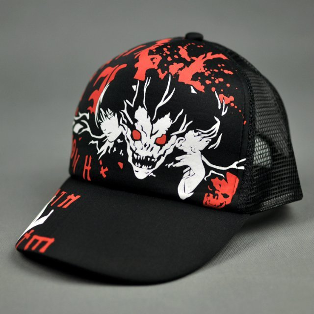 2ef3a5d1b9c 2015 Anime Cute Death Note canvas Adjustable Hat Sports Peaked Hats Cartoon  Hip Pop Baseball Caps Christmas Gift