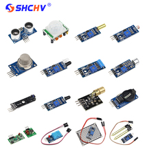 Buy online 16 in 1 Raspberry Pi 3 2 Sensor Module 16 kinds of Sensors 16 pcs/lot Sensor Kits for Arduino UNO R3 Raspberry Pi DIY Module