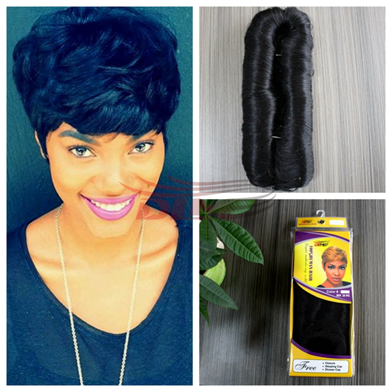 Gorgeous Short Weaves 4inch Full Head Double Weft Human Hair 28