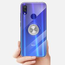 Case For Xiaomi Redmi Note 7 Soft Transparent Phone 7, Pro Cover Ring Magnetic Silicone