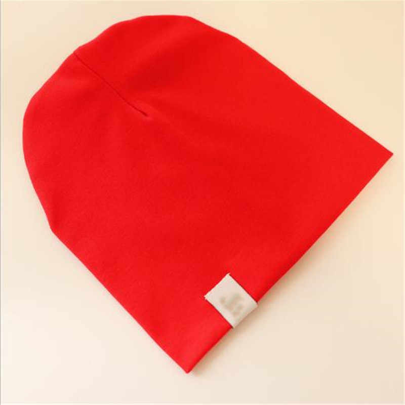 Fashion Cute Solid Knitted Cotton Hats For Newborn Baby Children Autumn Winter Warm Earmuffs Colorful Crown Caps