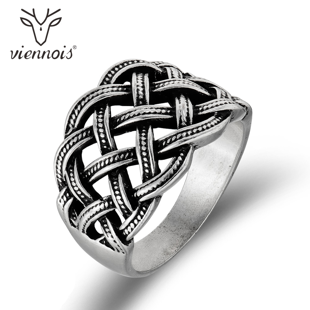 Viennois Vintage Silver Color Women Cross Finger Rings Retro Style Size Ring Female Party Jewelry ...