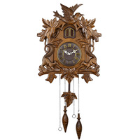 Love watches and clocks vintage hand carved cuckoo clock living room children room pocket watch mute wall