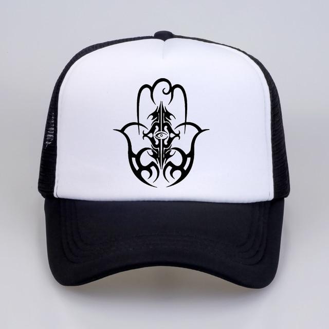 HAMSA Man Women cap Hand India of Fatima Symbol Insigna Islam Muslim  Insignia Baseball caps mesh 33aca3c5629