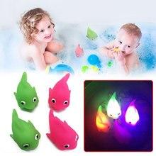 Электронная рыба мигает светящаяся рыба игрушка светящаяся Рыба игрушки для детей Детские гаджеты для купания водные игры