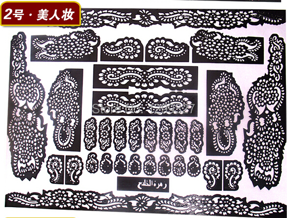 Free Shipping Henna Tattoo Stickers Stencils For Painting Paste A