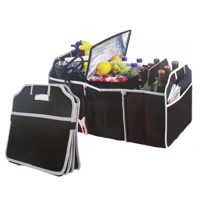 Reusable Large Grocery Shopping Bag Portable Foldable Non-woven Fabric Tote Bag Car Multi-Pocket Organizer Truck Container Bags